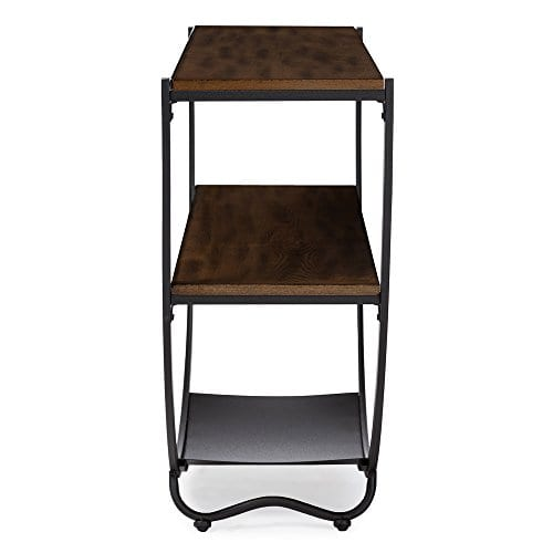 Baxton Studio Blakes Rustic Industrial Style Antique Textured Metal Distressed Wood Console Table Black 0 2