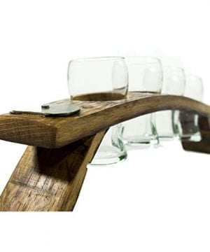 Beer Flight Set Carrier With 4 6 Ounce Brussels Beer Tasting Glasses 0 300x360