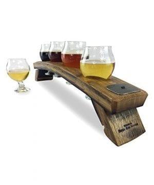 Beer Flight With 4 Suspended 5oz Belgian Glasses 0 300x360