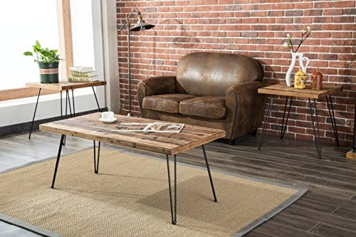 Belmont Home Reclaimed Wood And Metal Tables Set Of 3 0 0