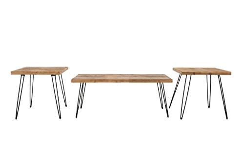 Belmont Home Reclaimed Wood And Metal Tables Set Of 3 0