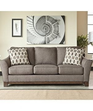 Benchcraft Janley Contemporary Living Room Sofa 2 Accent Pillows Included Slate Gray 0 0 300x360