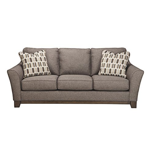 Benchcraft Janley Contemporary Living Room Sofa 2 Accent Pillows Included Slate Gray 0