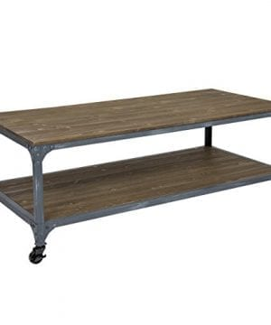 Best Choice Products Industrial Style Wheeled Coffee Table 0 0 300x360