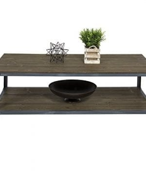 Best Choice Products Industrial Style Wheeled Coffee Table 0 1 300x360