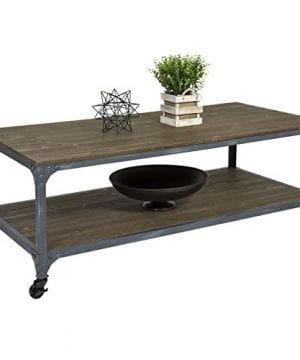 Best Choice Products Industrial Style Wheeled Coffee Table 0 300x360