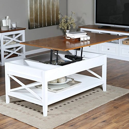 Bistro Coffee Tables White Lift Top Rectangle Wood Cocktail Living Room End Table Side Modern Furniture 0 0