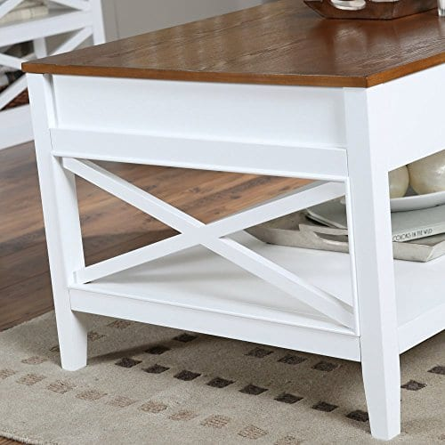 Bistro Coffee Tables White Lift Top Rectangle Wood Cocktail Living Room End Table Side Modern Furniture 0 1