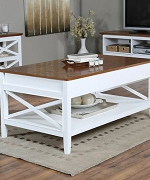 Bistro Coffee Tables White Lift Top Rectangle Wood Cocktail Living Room End Table Side Modern Furniture 0 300x360