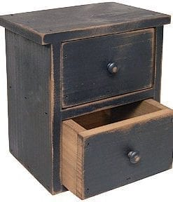 Black Distressed Wood Farmhouse Drawers Country Primitive Storage Dcor 0 247x288