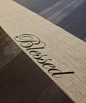 Blessed Burlap Table Runner 12 Inches By 64 Inches 0 0 300x358