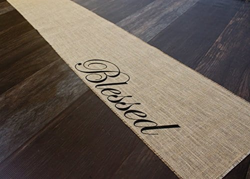 Blessed Burlap Table Runner 12 Inches By 64 Inches 0 0
