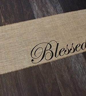 Blessed Burlap Table Runner 12 Inches By 64 Inches 0 1 300x333