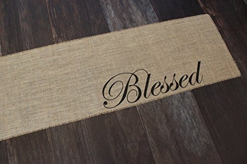 Blessed Burlap Table Runner 12 Inches By 64 Inches 0 1