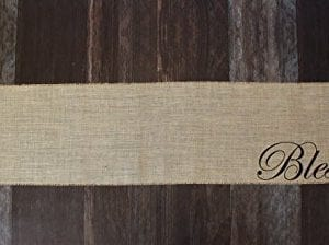 Blessed Burlap Table Runner 12 Inches By 64 Inches 0 2 300x224