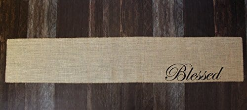 Blessed Burlap Table Runner 12 Inches By 64 Inches 0 2