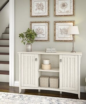 Bush Furniture Salinas Storage Cabinet With Doors In Antique White 0 0 300x360