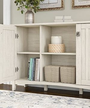 Bush Furniture Salinas Storage Cabinet With Doors In Antique White 0 1 300x360