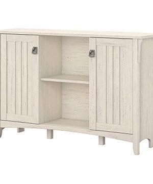 Bush Furniture Salinas Storage Cabinet With Doors In Antique White 0 300x360
