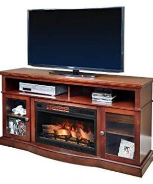 ChimneyFree Walker Cherry Electric Fireplace Entertainment Center 25MM5326 C245 0 300x360