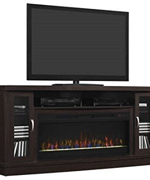 Classic Flame Hutchinson Infrared Electric Fireplace Entertainment Center Oak Espresso 0 0 300x360