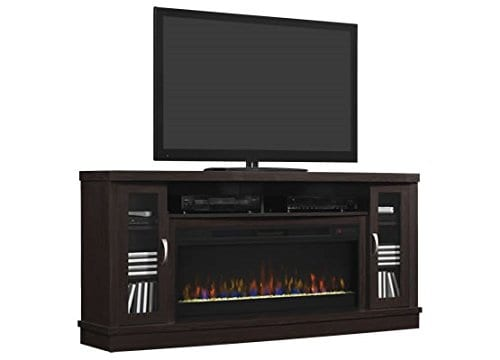 Classic Flame Hutchinson Infrared Electric Fireplace Entertainment Center Oak Espresso 0 0
