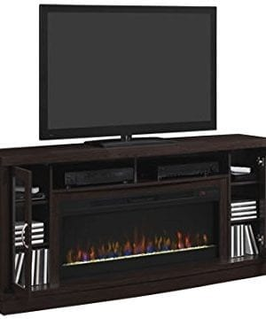 Classic Flame Hutchinson Infrared Electric Fireplace Entertainment Center Oak Espresso 0 1 300x360