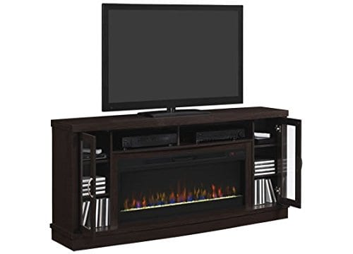 Classic Flame Hutchinson Infrared Electric Fireplace Entertainment Center Oak Espresso 0 1