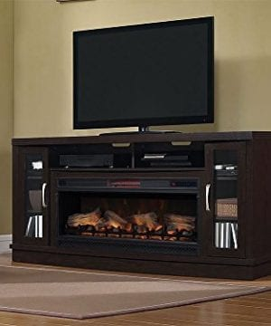 Classic Flame Hutchinson Infrared Electric Fireplace Entertainment Center Oak Espresso 0 2 300x360