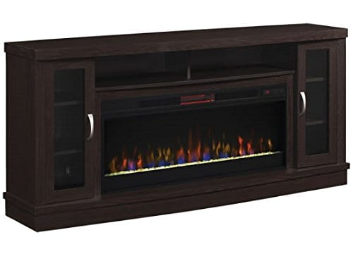 Classic Flame Hutchinson Infrared Electric Fireplace Entertainment Center Oak Espresso 0