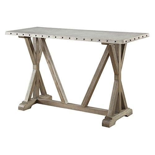 Coaster Furniture Gray Metal Top Sofa Table 0 0