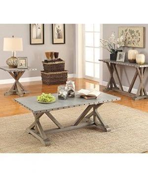Coaster Furniture Gray Metal Top Sofa Table 0 1 300x360