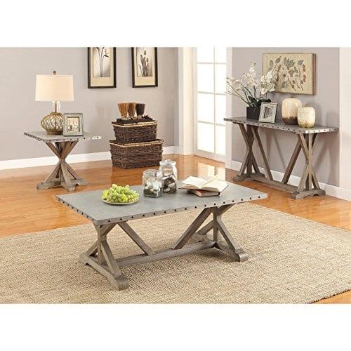 Coaster Furniture Gray Metal Top Sofa Table 0 1