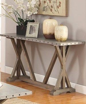 Coaster Furniture Gray Metal Top Sofa Table 0 300x360