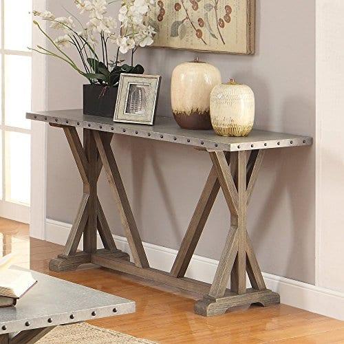 Coaster Furniture Gray Metal Top Sofa Table 0