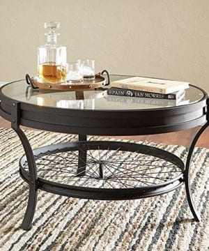 Coaster Furniture Round Glass Top Coffee Table Sandy Black 0 300x360