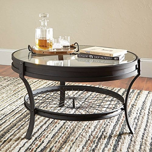 Awe Inspiring Coaster Furniture Round Glass Top Coffee Table Sandy Black Camellatalisay Diy Chair Ideas Camellatalisaycom