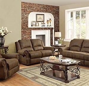 Coaster Home Furnishings Sir Rawlinson Motion Sofa With Nailhead Studs Buckskin Brown 0 0 300x292
