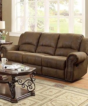 Coaster Home Furnishings Sir Rawlinson Motion Sofa With Nailhead Studs Buckskin Brown 0 1 300x360