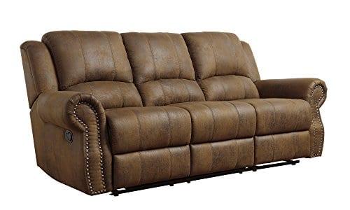 Coaster Home Furnishings Sir Rawlinson Motion Sofa With Nailhead Studs Buckskin Brown 0 2