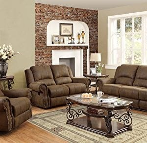 Coaster Home Furnishings Sir Rawlinson Motion Sofa With Nailhead Studs Buckskin Brown 0 300x292