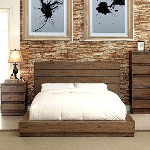 Coimbra Country Style Rustic Natural Tone Bed 0