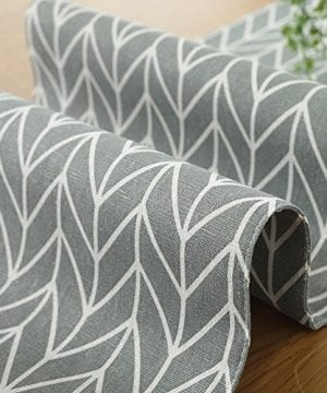 ColorBird Gray Medallion Table Runner Cotton Linen Runners For Kitchen Dining Living Room Table Linen Decor 0 2 300x360