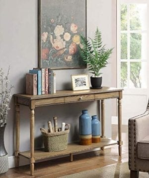 Convenience Concepts French Country Console Table With Drawer And Shelf 0 300x360