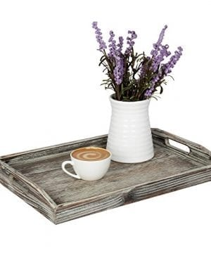 Country Rustic Torched Wood Nesting Breakfast Serving Trays With Handles Set Of 3 0 1 300x360
