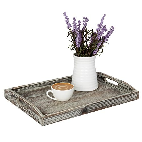 Country Rustic Torched Wood Nesting Breakfast Serving Trays With Handles Set Of 3 0 1