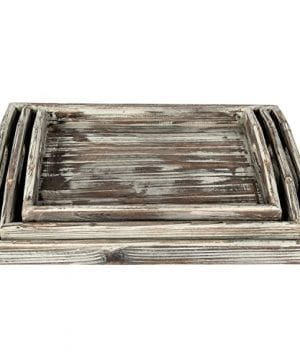 Country Rustic Torched Wood Nesting Breakfast Serving Trays With Handles Set Of 3 0 2 300x360
