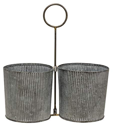 Craft House Designs Galvanized Desk Organizer Accent Or Utensil Caddy For Rustic Farmhouse Industrial Style 0
