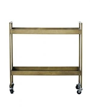Creative Co Op Metal 2 Tier Bar Cart On Caster Wheels 03 Furniture CabinetsShelf Unit 0 300x360