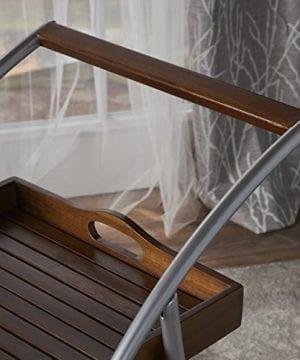 Crosby Indoor Farmhouse Cottage Dark Oak Acacia Wood Bar Cart 0 2 300x360